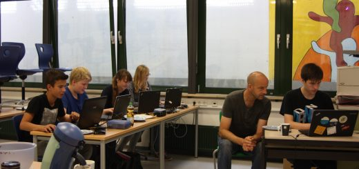 v. l. n. r.: Tim Stöcker, Jonas Preising, Alicia Biederbick, Eva-Marie Pfeifer, Jürgen Busch und Benjamin Lieser.